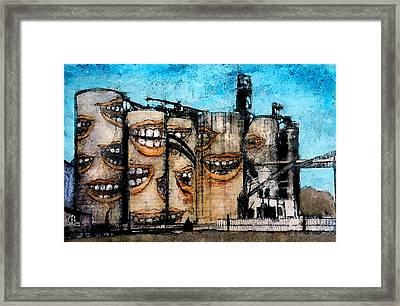 Smiling Silos Framed Print by James Huntley