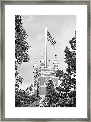 Smith College College Hall Framed Print by University Icons