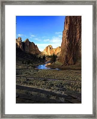 Smith Rock December Morning 3 Framed Print by Nancy Merkle