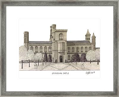 Smithsonian Castle Framed Print by Frederic Kohli