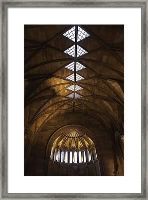 Smithsonian Castle Vaulted Ceiling Framed Print by Lynn Palmer