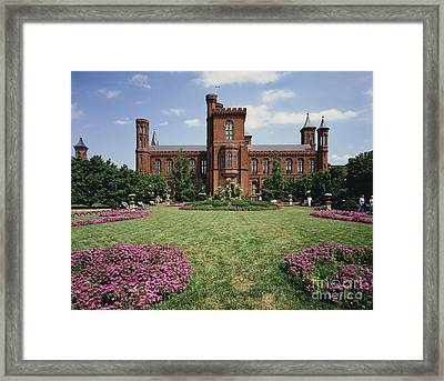 Smithsonian Institution Building Framed Print by Rafael Macia