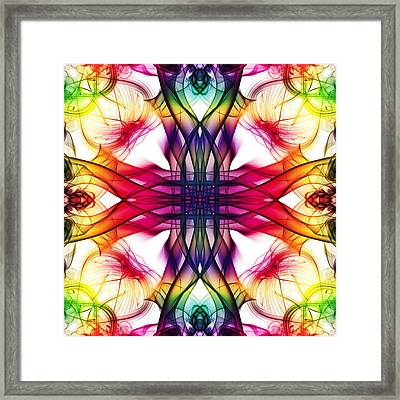 Smoke Art 101 Framed Print by Steve Purnell