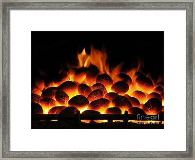 Smoke-free Coal Burning Framed Print by Cordelia Molloy