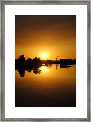 Smoke On The Water Framed Print by Edward Curtis