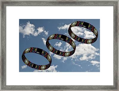 Smoke Rings In The Sky 1 Framed Print by Steve Purnell