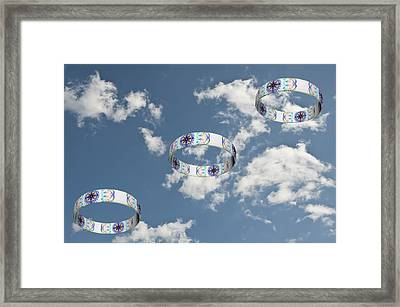 Smoke Rings In The Sky 2 Framed Print by Steve Purnell