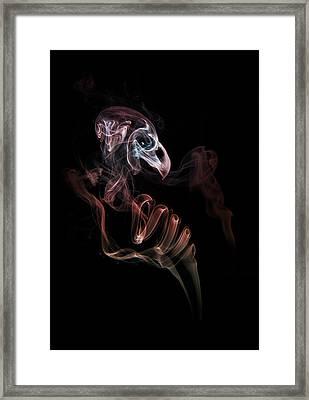 Smoke Skull Framed Print by Jaroslaw Blaminsky