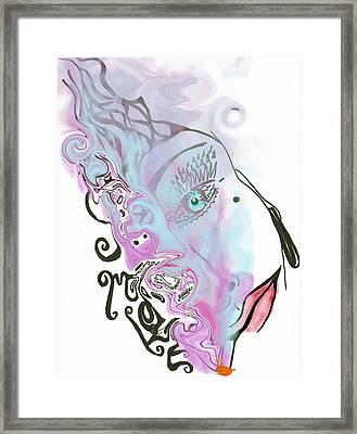 Smoke Framed Print by Tiffany Selig