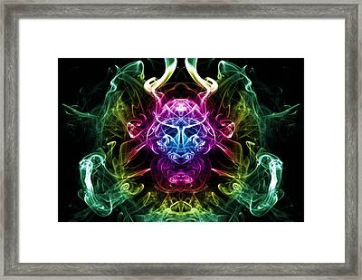 Smoke Warrior Framed Print by Steve Purnell