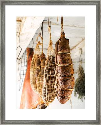 Smoked Meat Framed Print by Sinisa Botas