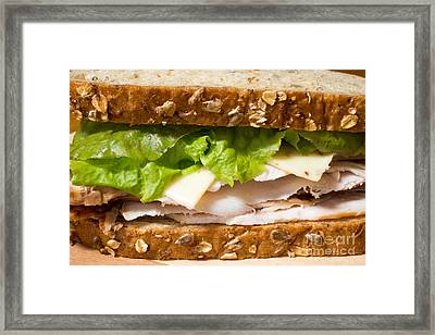 Smoked Turkey Sandwich Framed Print by Edward Fielding