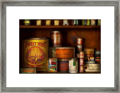 Smoker - Tobacco Snuff And Stuff Framed Print by Mike Savad