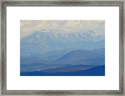 Smokey Blue Flat Top Framed Print by Peter  McIntosh