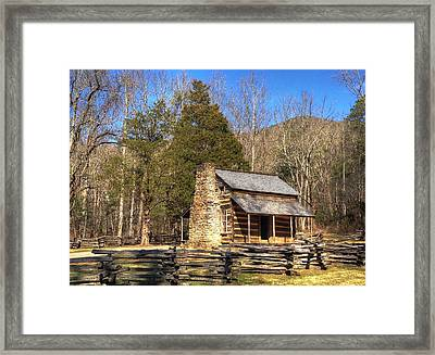 Smokey Mountain Cabin Framed Print by Daniel Eskridge