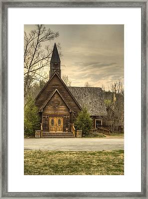 Smokey Mountain Love Chapel 2 Framed Print by Douglas Barnett
