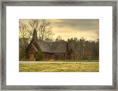 Smokey Mountain Love Chapel 4 Framed Print by Douglas Barnett