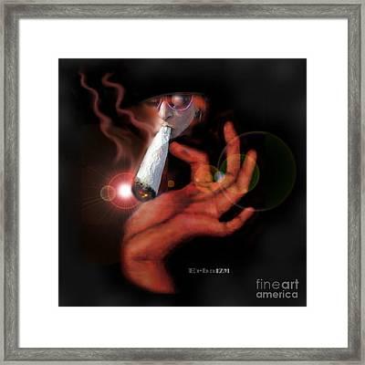 Smok'in Framed Print by Alexi Angelino