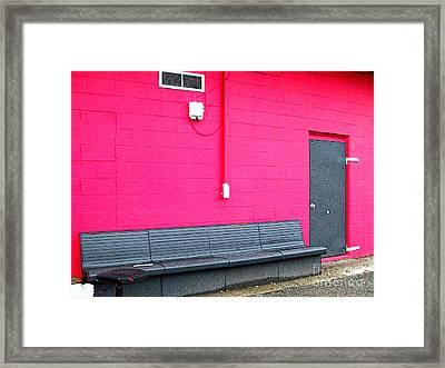 Smokin' Out The Back Door Framed Print by MJ Olsen