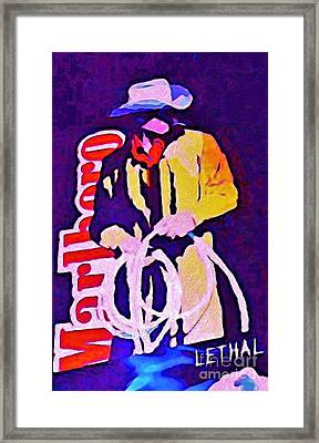 Smoking Can Be Lethal Framed Print by John Malone