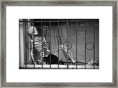 Smoking In The Window Framed Print by RicardMN Photography