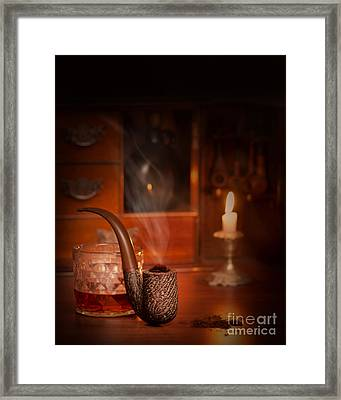 Smoking Pipe Framed Print by Amanda Elwell