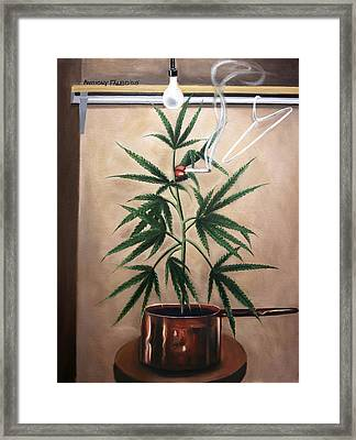 Smoking Section Framed Print by Anthony Falbo