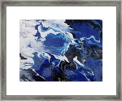 Smoky Blue Framed Print by Mitchell Embry