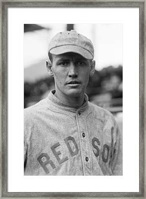 Smoky Joe Wood - Boston Red Sox 1914 Framed Print by Mountain Dreams