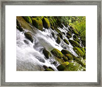 Smoky Mountain Abstract Framed Print by Frozen in Time Fine Art Photography