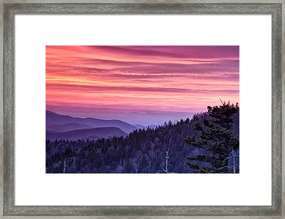 Smoky Mountain Evening Framed Print by Andrew Soundarajan