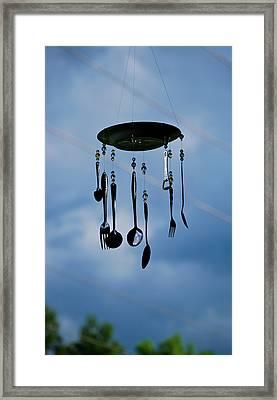 Smoky Mountain Windchime Framed Print by Christi Kraft