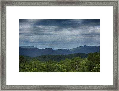 Smoky Mountains Oil Paint Framed Print by Stephen Stookey