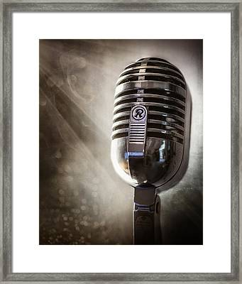 Smoky Vintage Microphone Framed Print by Scott Norris