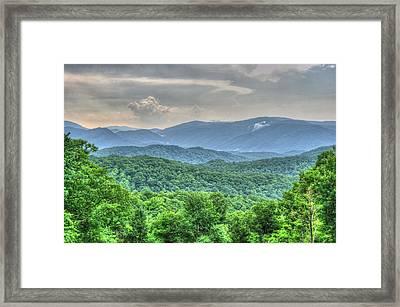 Smoky Vista Framed Print by Mark Bowmer