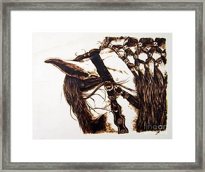 Smolder Framed Print by Paper Horses Jacquelynn Adamek