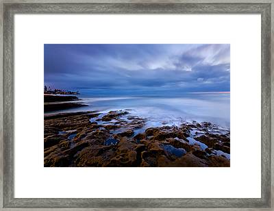 Smooth Blue Framed Print by Peter Tellone