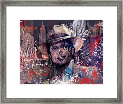 Smooth Criminal Framed Print by Bekim Art