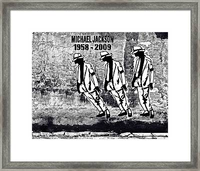 Smooth Criminal - Michael Jackson Tribute Framed Print by Victor Cavalera