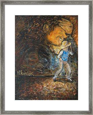Smooth Criminal Mj Framed Print by Nik Helbig