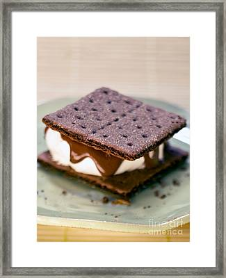S'more With Chocolate Graham Framed Print by Iris Richardson
