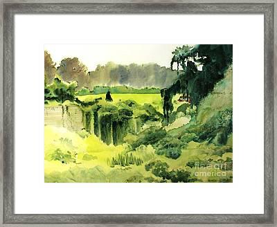 Smothered Framed Print by Elizabeth Carr