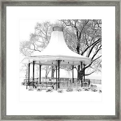 Smothers Park Gazebo Framed Print by Wendell Thompson