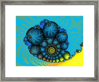 Snail Mail-fractal Art Framed Print by Karin Kuhlmann