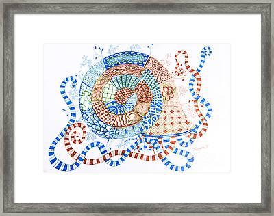 Snailien Framed Print by Rebecca Tregear