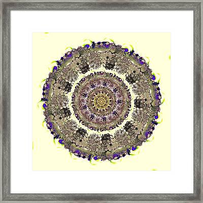 Snake Mandala Framed Print by Anastasiya Malakhova