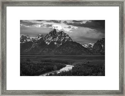 Snake River In The Tetons Framed Print by Andrew Soundarajan