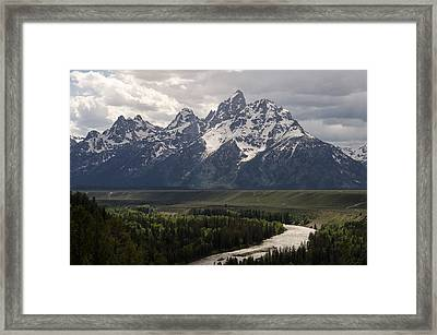 Snake River Overlook - Tetons Framed Print by Aaron Spong