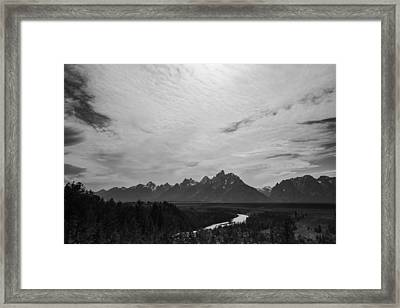 Snake River Overlook In Grand Teton National Park Framed Print by Vishwanath Bhat