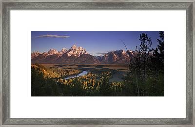 Snake River Panorama Framed Print by Andrew Soundarajan